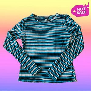 Blue Striped Long-sleeve shirt
